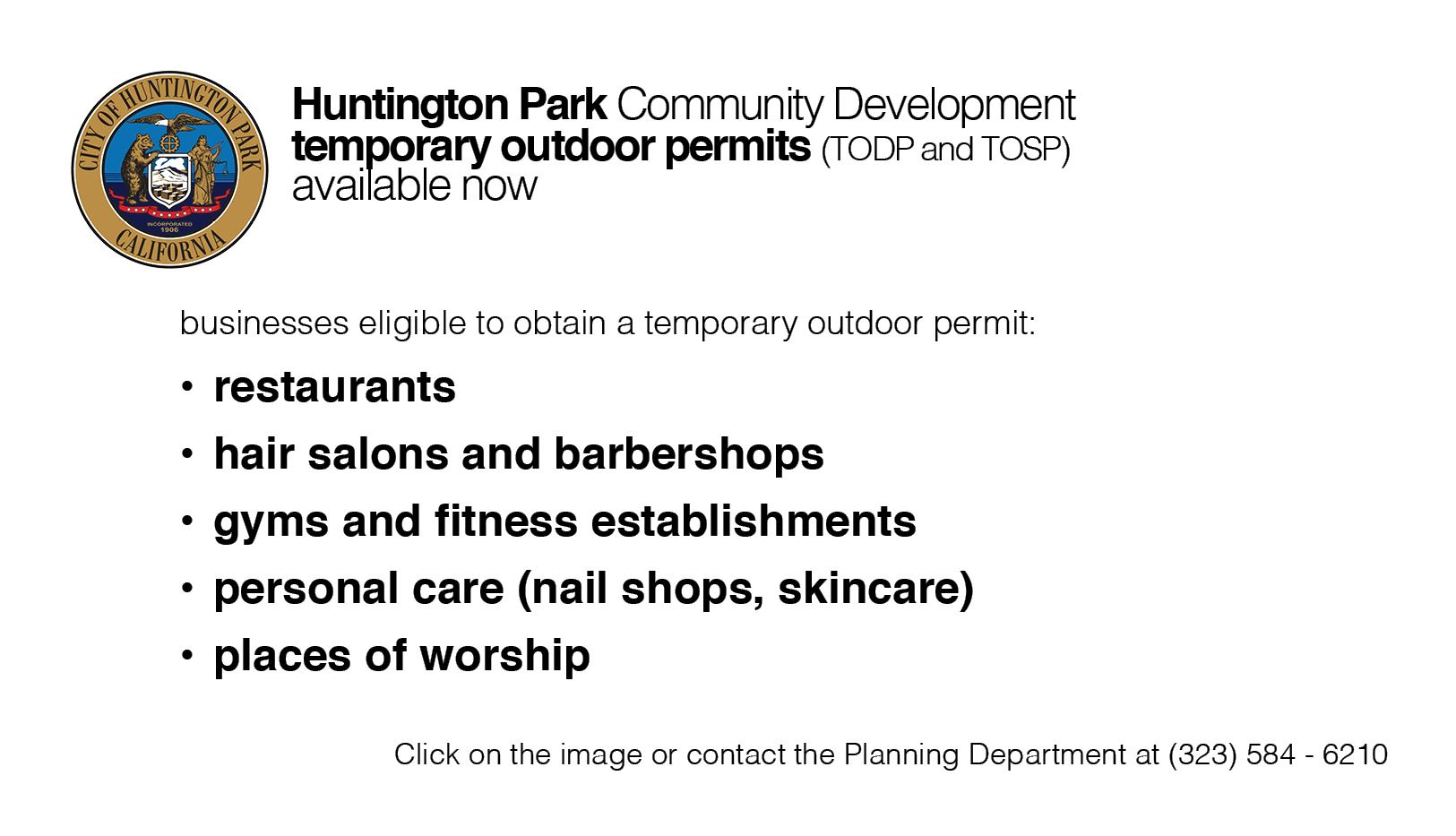 Temporary Outdoor Permits